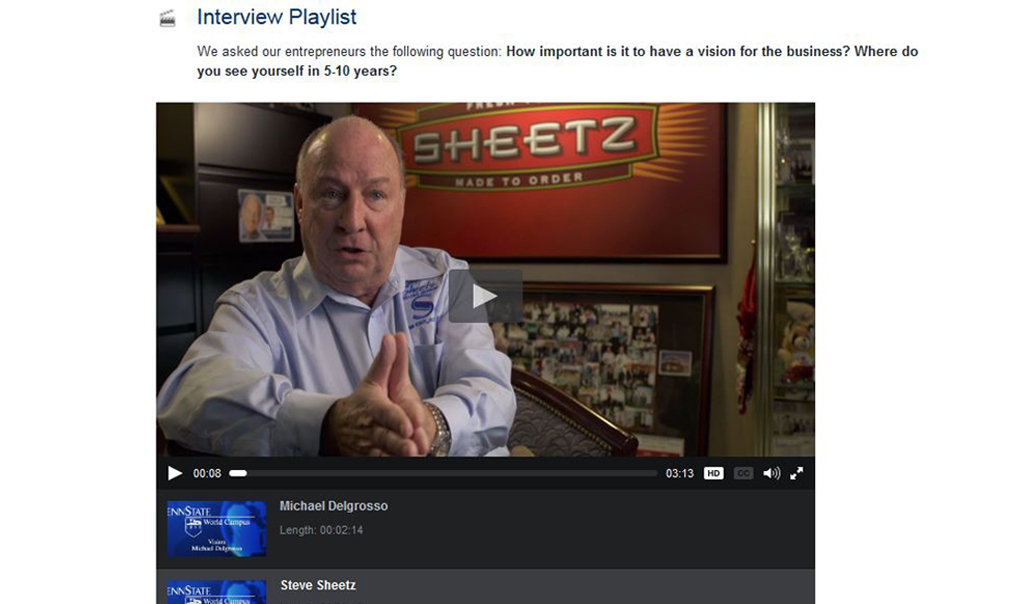 Preview of a video interview with Steve Sheetz.