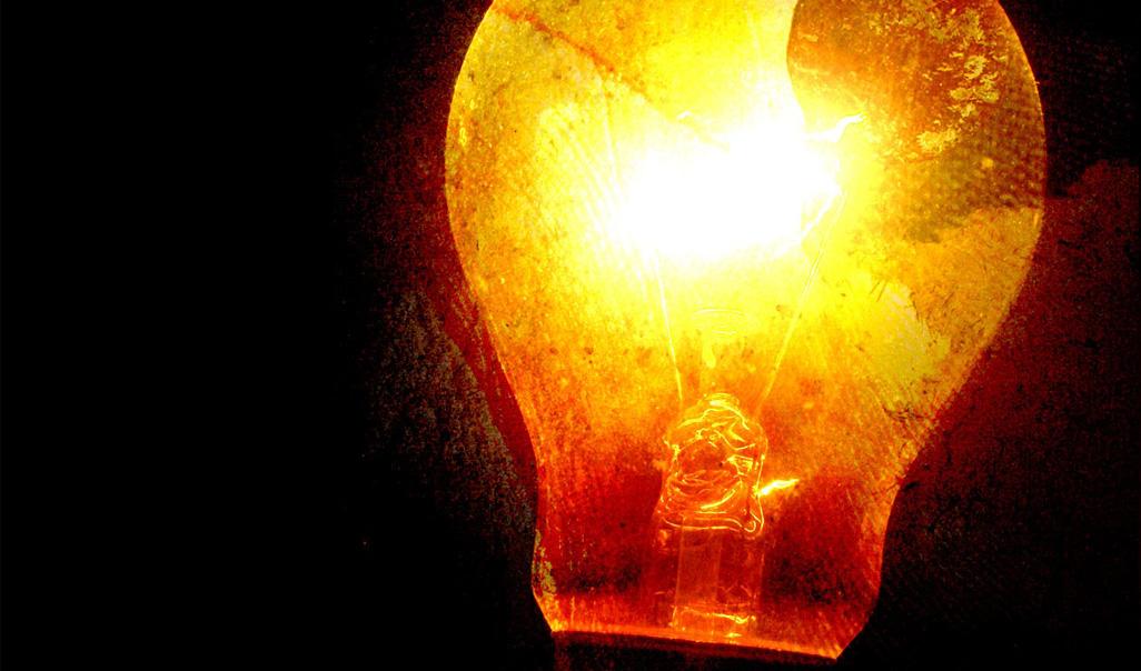 Lit light bulb graphic.