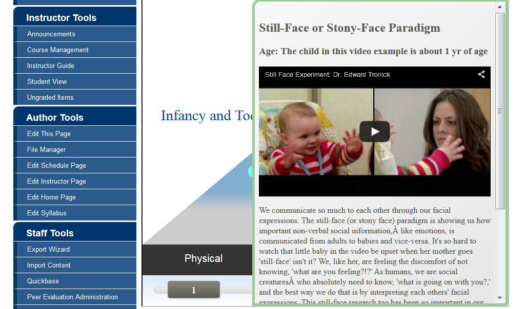 Screen shot from a lesson page depicting text and videos.